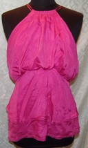 BCBG MaxAzria M Pink Flair Sleeveless Top Silk Womens MaxAzria - $28.74