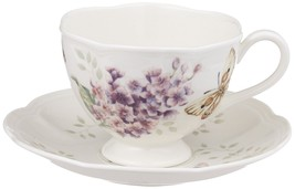 Lenox Butterfly Meadow Orange Sulphur 8-Ounce Cup and Saucer Set - $22.60