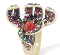 """New with tags - Heidi Daus """"Calla Lily"""" Crystal-Accented Ring - 6 - $79.00"""