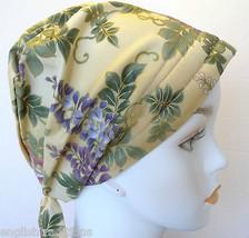 Asian Wisteria Chemo Cancer Hat Alopecia Hairloss Scarves Turban Headwrap - $16.95
