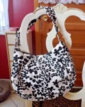 Merona white with black flowers hobo shoulder bag - $10.50
