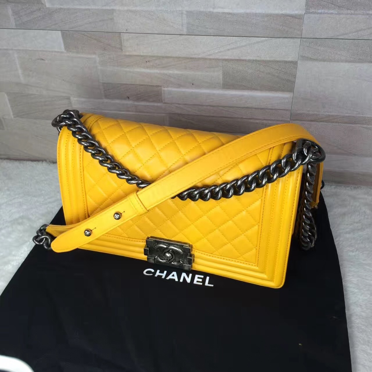 fbe6b24d458d Authentic Chanel Boy Medium Flap Bag Yellow and 48 similar items