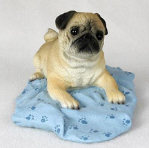 PUG (FAWN)  MY  DOG  Figurine Statue Pet Lovers Gift Resin Hand Painted - $26.50
