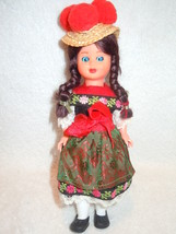 Vintage Plastic European Doll With Pom Pom Hat - $6.99