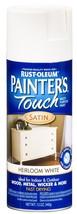Rust-Oleum 240254 Painter's Touch Satin Spray Heirloom White 12-Ounce - $20.49