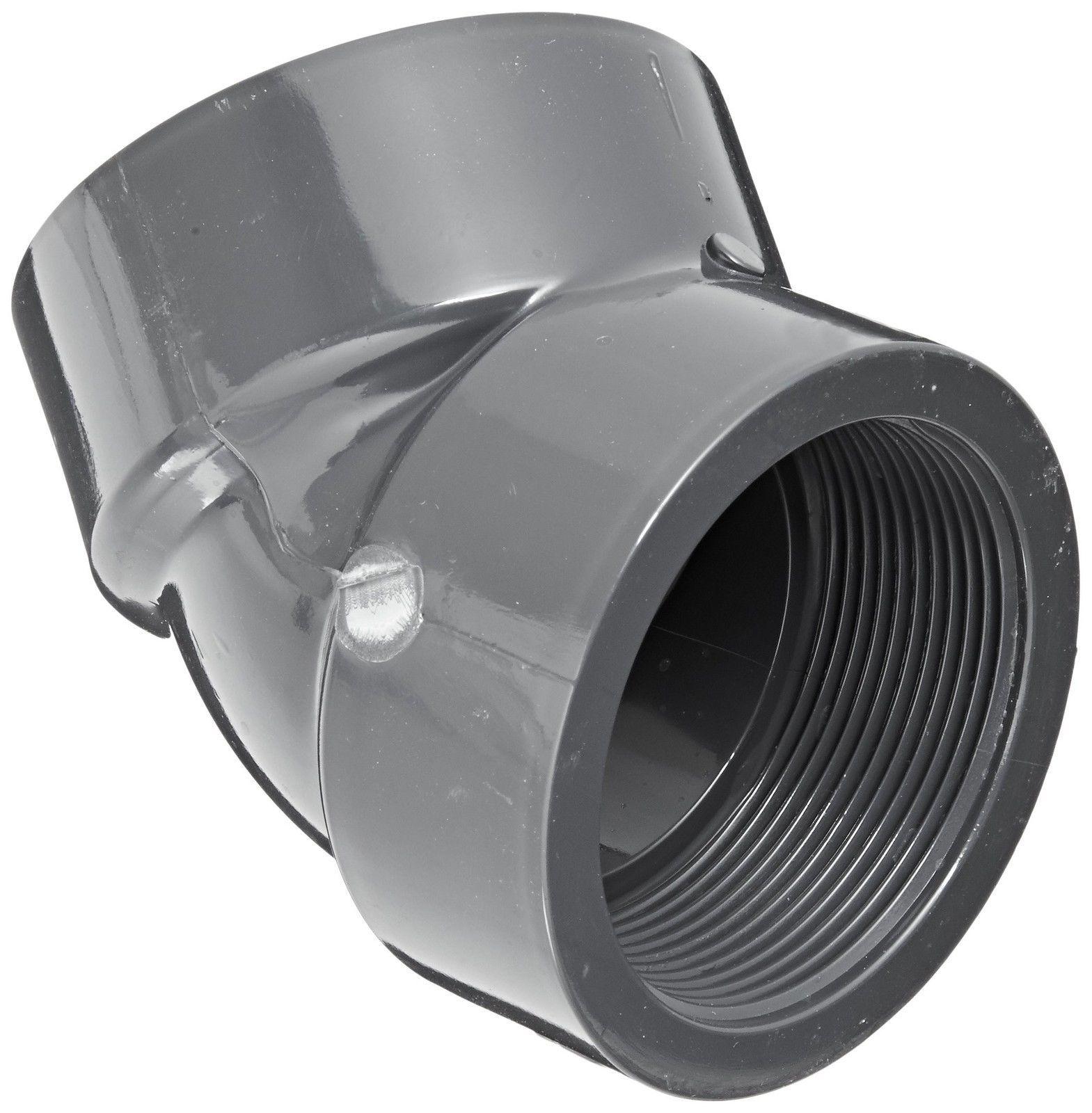 Spears 407-UV Series PVC Pipe Fitting UltraViolet Resistant 1//2 Socket x 1//2 NPT Female 90 Degree Elbow Schedule 40