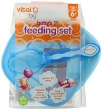 Vital Baby Baby's 1st Feeding Set Blue - $17.43