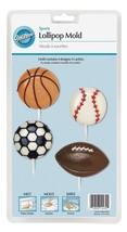 Wilton 2115-4432 Lollipop Mold Sports 4-Cavity/4 Designs - ₨348.93 INR