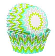 Wilton Standard Baking Cups Lime Chevron 75-Pack - $4.97