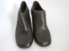 "Clarks Womens Brown Leather Upper 2.5"" Ankle Boots Size 6M 70997 - $27.99"