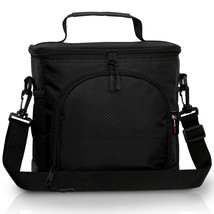 Insulated Lunch Bag w/ 2Way Zipper Closures Double-sewn Nylon Large NEW ... - $29.43