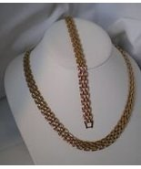 24k Gold Panther link Neckchain 10 MM wide 16 inches gb - $27.95