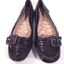 KENNETH COLE Reaction Flats BLACK Patent LEATHER Dressy Sz 6 B/2AA EUC - $13.96