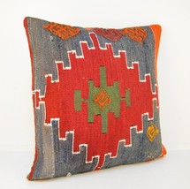 kilim pillow,rug pillow covers,wool pillows,pillow case,pillow cover 16... - $16.00