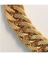 24K GOLD GEP WIDE DOUBLE CURB CHAIN 16 MM WIDE 30 INCH - $99.00