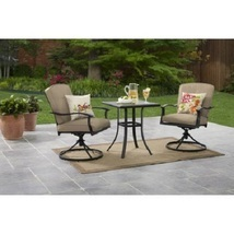 Outdoor Bistro Set Patio Garden Lawn Backyard Furniture Steel 3 Piece Cu... - $269.99