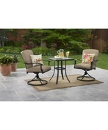 Outdoor Bistro Set Patio Garden Lawn Backyard Furniture Steel 3 Piece Cu... - $5.769,95 MXN