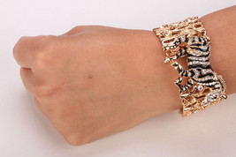 Zebra Horse Stretch Bracelet Cute Animal Cuff Jewelry For Women Girls - $12.99+