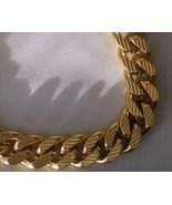 24k Gold GP Diamon Cut Etched Curb Chain 30 Inch length - $52.95