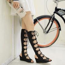 ps311 cutie Martin long cylinder sandals, fantastic design, US Size 2-10, black - $58.80