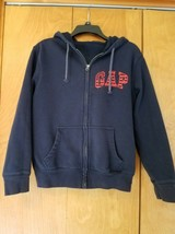 GAP XS (extra Small)  Men's Navy Blue Full Zip Hooded Sweatshirt Jacket-Red Flag - $16.99