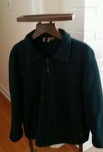 Woolrich Zip up Green Fleece Outdoor Jacket Sweater Hiking Camping Size XL - $12.87