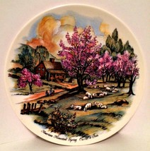 Decorator Plate Currier & Ives Print American Homestead Spring 9 inches - $7.91
