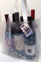Chill and Carry Wine Beverage Tote 6 Bottle Size Clear Bag Fine Life Pro... - $9.89