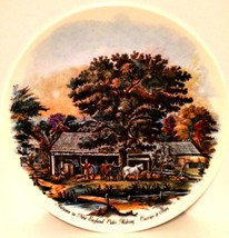 Decorator Plate Currier & Ives Autumn in New England Cider Making 9 inches - $8.90