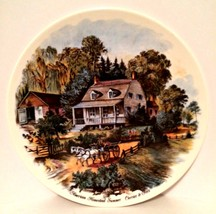 Decorator Plate Currier & Ives Print American Homestead Summer 9 inches - $7.91