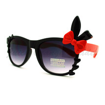Bunny Ears Ribbon Bow Hearts Decor Cute Sunglasses Girls & Womens - $7.15