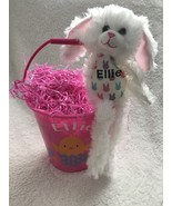 Personalized Easter Bunny Plush in Personalized Pail with Grass - $26.00