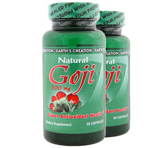 Natural Goji 500mg  Antioxidant 2 Pack by Earth's Creation - $16.71
