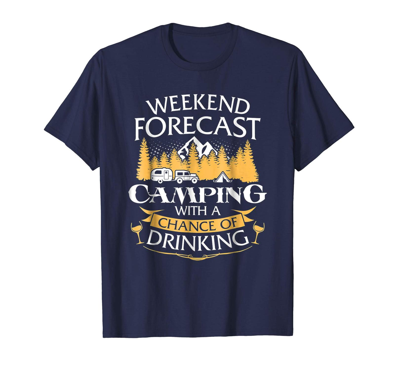 Primary image for Brother Shirts - Weekend Forecast Camping With A Chance Of Drinking Tee Men