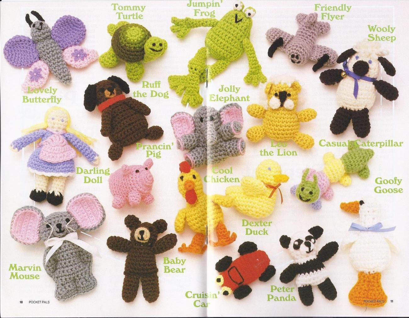 Pocket Pals Crochet Pattern~Annie\'s~Dated and 29 similar items