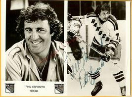 Phil Esposito Hand Autographed 1979-80 Publicity Photo - $49.99