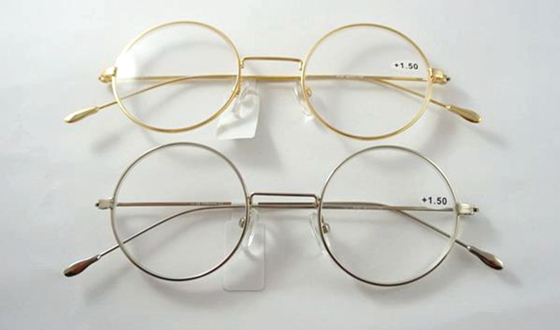 Primary image for Retro Vintage Round Reading Glasses Metal Readers Harry Potter John Lennon Style