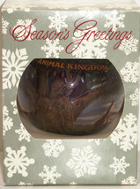 Disney Theme Parks Animal Kingdom Christmas Ornament Glass Ball 1998 - $24.95