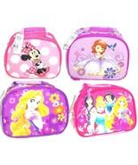 Disney Lunch Tote Bag Box Princess Rapunzel Minnie Mouse Sofia the First... - $39.95