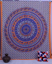 Indian Elephant Mandala Wall Hanging Psychedelic Throw Tapestry Bedsprea... - £12.43 GBP