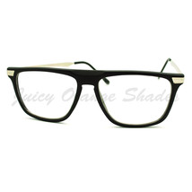 Clear Lens Glasses Flat Top Fashion Eyeglasses Thin Square Frame - $7.95