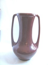 Haegaer Pottery VASE Large Dark Red Maroon Urn ... - $29.65