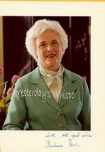 Barbara Bush Hand Autographed Publicity Photograph - $49.99