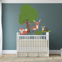Vinyl Wall Decal Animals Nature Tree Art Home Baby Sticker, Kids Room Decal - $24.74+