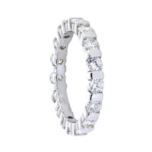 Round Diamonds Channel Set Eternity Band, 1.36CT in 14K White Gold - $3,122.00