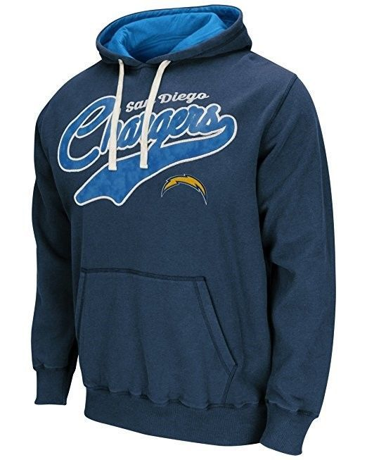San Diego Chargers Hoodie Men's NFL Wild Card Pullover Fleece Hooded Sweatshirt