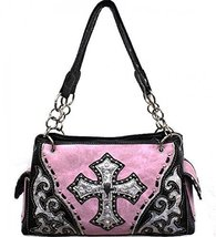Light Pink Studded Cross Conceal and Carry Purse - $53.45