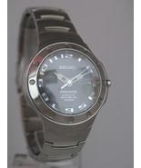 Seiko mens watches premier kinetic auto relay silver tone bracelet case ... - $336.60