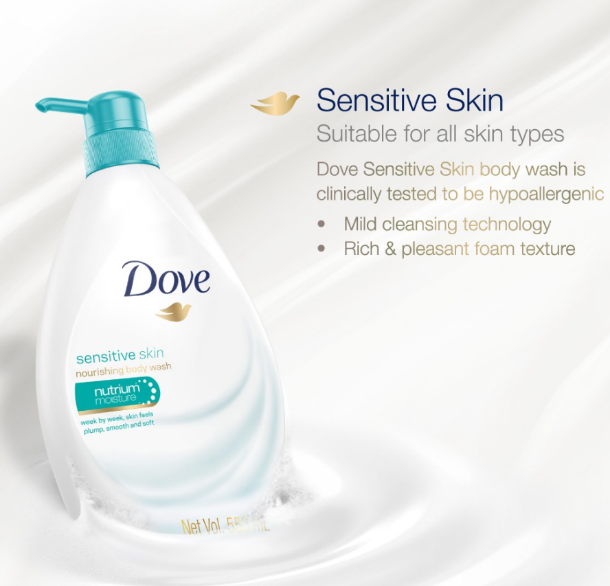 Primary image for NEW DOVE Shower Body Wash Sensitive Skin 1000ml EXPRESS SHIPPING DHL