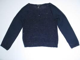 INC International Concepts Long-Sleeve Sweater, Navy, Sz. XLarge - $18.24